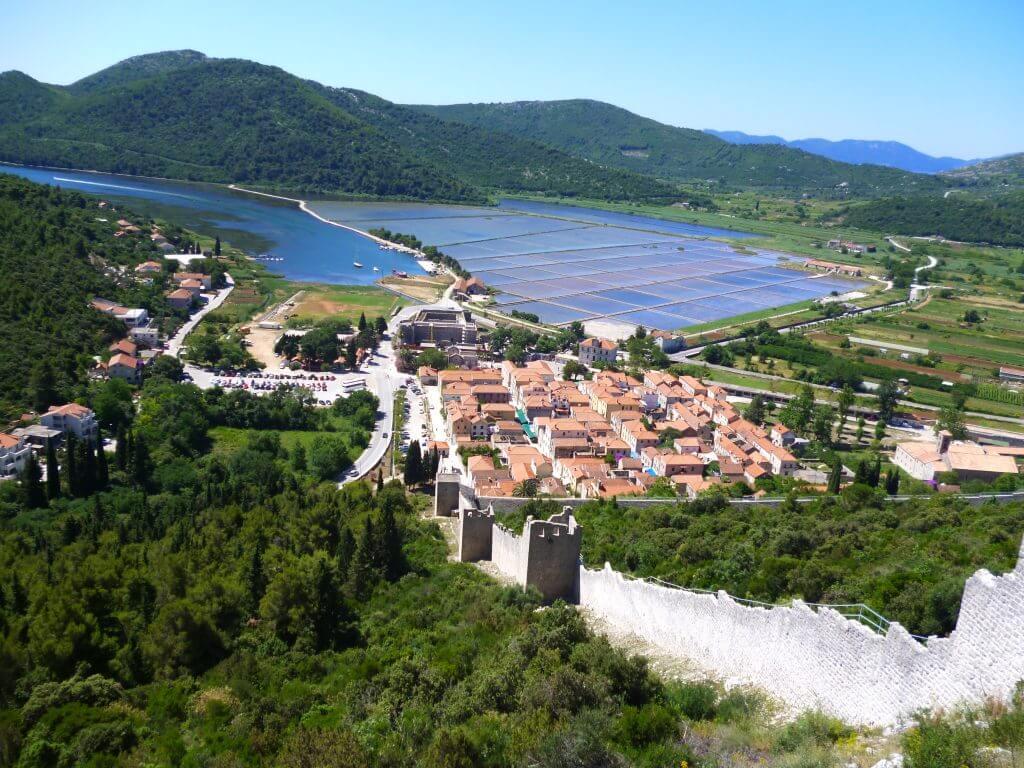 Walls and Salt Pans Ston Croatia